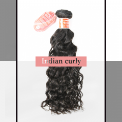 #1b Brazilian Virgin Human Hair Weft indian curly